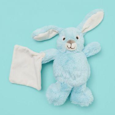 Baby Nat Blue Rabbit with Doudou 15cm