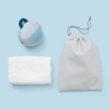 Blue Shake Snuggle and Roll Baby Hamper Blue