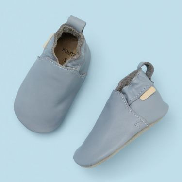 Boumy Blue Soft Leather Shoes 6 to 12 months