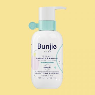 Bunjie Baby Rock A Bye Massage and Bath Oil | Baby Skincare.