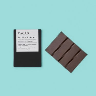 Cacao Salted Caramel 57% Dark Chocolate 50g