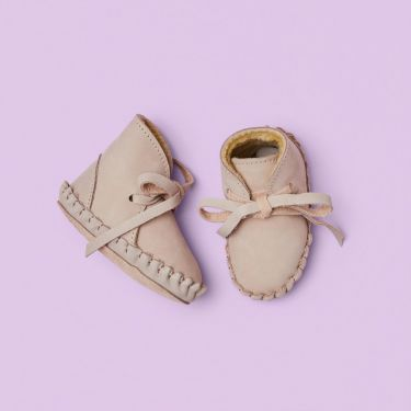 Donsje Lilac Pina Lining Nubuck Baby Shoes 6 to 12 months