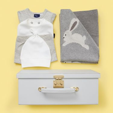 Hoppity Bunny Newborn Baby Gift Grey