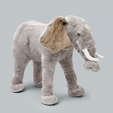 Jiggle and Giggle Animal Giant Standing Elephant Plush Toy