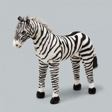 Jiggle and Giggle Animal Giant Standing Zebra Kids Plush Toy