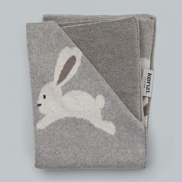 Kenzi Living Bunny Baby Blanket in Grey