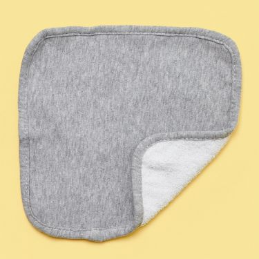Living Textiles Baby Face Washer in Grey Marle Jersey Cotton