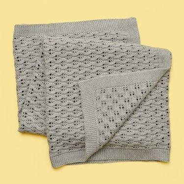 Living Textiles Lattice Baby Blanket Grey