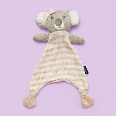 Living Textiles Pink Koala Knitted Security Blanket