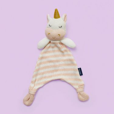 Living Textiles Unicorn Knitted Security Blanket