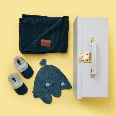 Luxe Baby Duck Egg Cashmere Gift Hamper