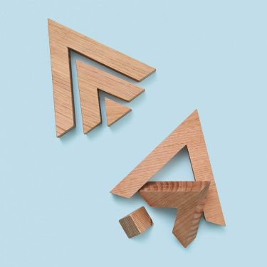 Melb Design Co Triangle Wooden Toy | Baby Genius 