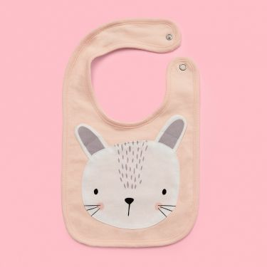 Mister Fly Pink Bunny Bib | Quality Baby Accessories