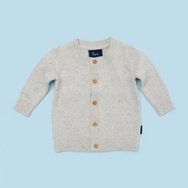 Pappe Ardallie Cashmere Cardigan in Oatmeal Speckle