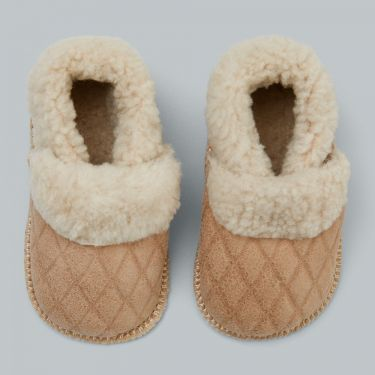 Pappe Mews Luxe Lambskin Slippers - Sunday Sand 6 to 12 months