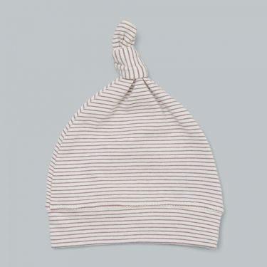 Pappe Romsey Organic Baby Knot Hat - Elderberry Stripe
