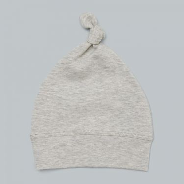 Pappe Romsey Organic Baby Knot - Grey Marle