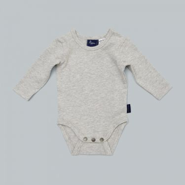 Pappe Nimmy Luxe Organic Body Suit Long Sleeve - Grey Marle