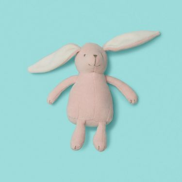 Purebaby Pink Velour Rabbit Toy