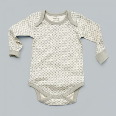 Sapling Child AU Dove Grey Organic Cotton Bodysuit sized 3 - 6 months
