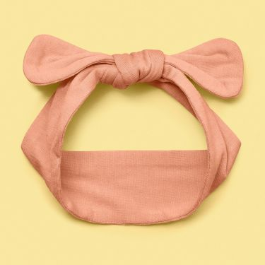 Snuggle Hunny Peach Top knot Headband