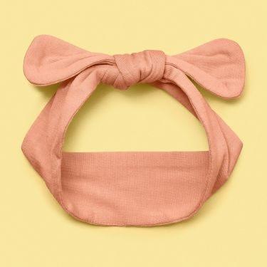 Snuggle Hunny Peach Top knot Headband