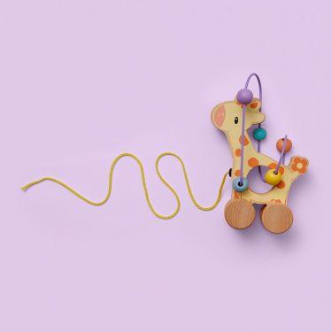 Studio Circus Giraffe Rolling Bead Coaster