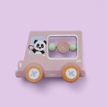 Studio Circus Panda Activity Car Wooden Toy | Baby Genius
