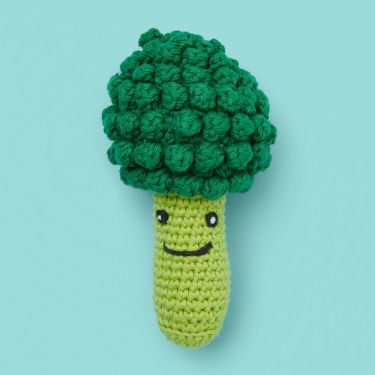 Weego Amigo Broccoli Crochet Baby Rattle