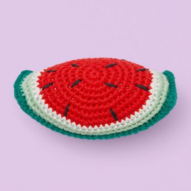 Weego Amigo Watermelon Crochet Rattle Toy