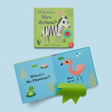 Wheres Mrs Zebra Board Book | Baby Bookshelf | Baby Genius