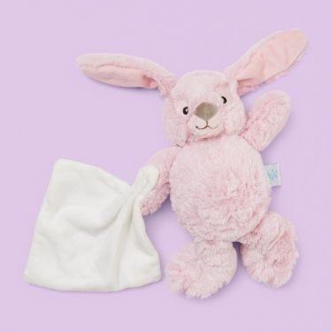 Baby Nat Pink Rabbit with Doudou
