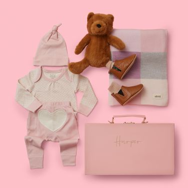 Beary Cute Baby Girl Gift Hamper | Luxury Baby Girl Gift