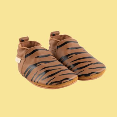 Boumy Tan Sinki Leather Baby Shoes 12m-18m