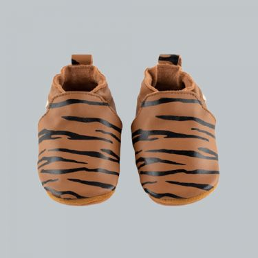 Boumy Tan Sinki Leather Baby Shoes 6m-12m