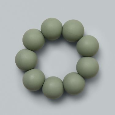 Dove and Dovelet Baby Freezable Teether in Sage