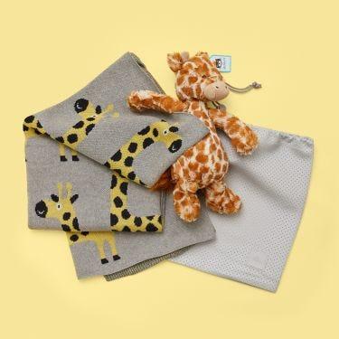 Giraffe on Safari Newborn Baby Gift