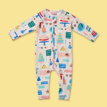 Halcyon Nights Big Happy Party Long Sleeve Zip Suit 12-18 Months