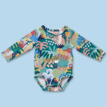 Halcyon Nights Hide and Seek Long Sleeve Bodysuit 3 to 6 Months