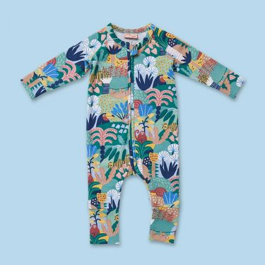 Halcyon Nights Hide and Seek Long Sleeve Zip Suit 3 to 6 Months