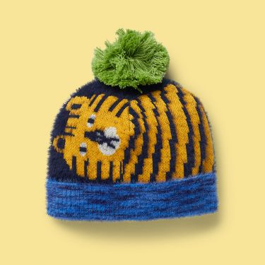 Halcyon Nights Hide and Seek Tiger Knit Beanie 6-18 months