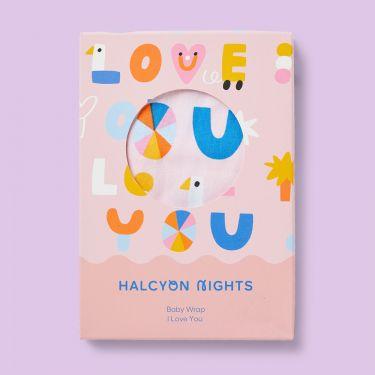 Halcyon Nights I Love You Blush Baby Wrap