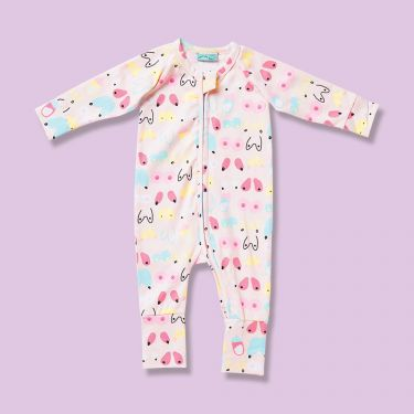 Halcyon Nights Milk Long Sleeve Zip Suit 3 to 6 Months