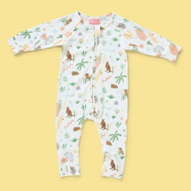 Halcyon Nights Outback Dreamers Long Sleeve Zip Suit 3 to 6 months