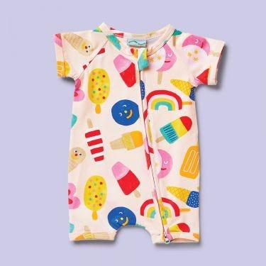 Halcyon Nights Sweet Dreams Short Sleeve Zip Suit 3-6 months