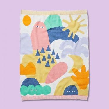 Halcyon Nights Wonderland Fluffy Knit Blanket