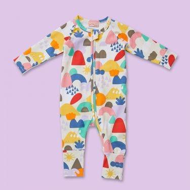 Halcyon Nights Wonderland Long Sleeve Zip Suit 3 to 6 Months