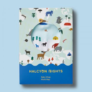 Halcyon Nights World Map Baby Wrap