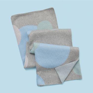 Kenzi Living Blue Bubbles Baby Blanket | Soul Baby Gifts Australia