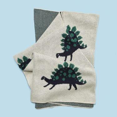 Kenzi Living Dinosaur Baby Blanket 80cm x 100cm